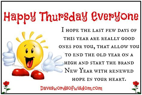 new year thursday daveswordsofwisdom happy thursday everyone