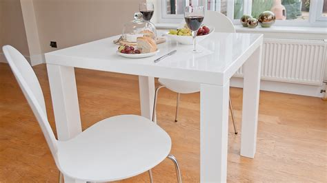 2 Seater Kitchen Table by Modern Square White High Gloss Table 4 Seater Uk