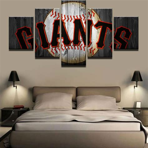 san francisco home decor framed san francisco giants baseball posters canvas wall