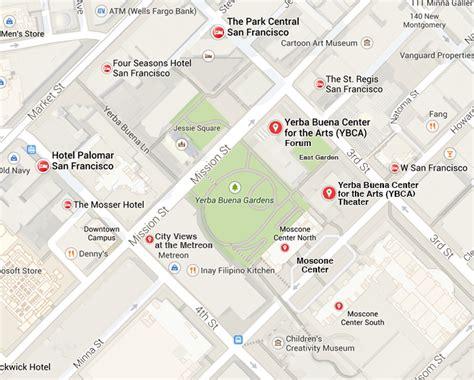 san francisco map moscone center moscone center san francisco map michigan map