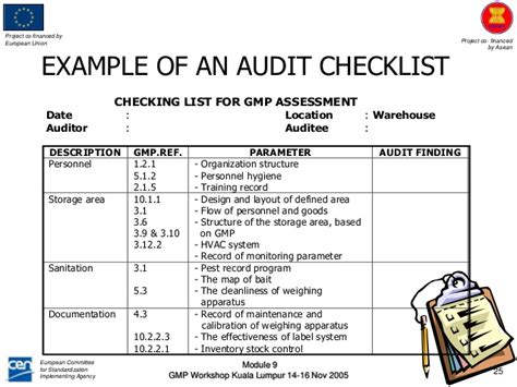 Interna Audit Module Hygiene Audit Template