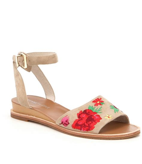Kenneth Cole New York Bronze Floral Slingback by Kenneth Cole New York Jory 3 Floral Embroidered Sandals