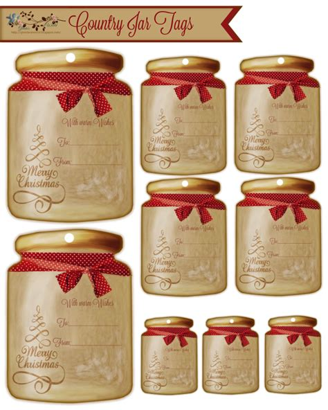printable country christmas gift tags christmas with glenda country jars believe in the magic