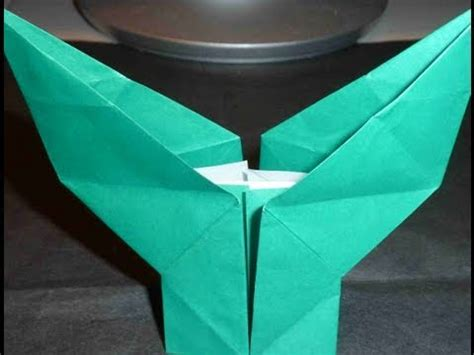 Origami Stem And Leaf - how to fold flower leaf stem origami 花の葉っぱ折り紙折り方 de flor