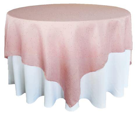 72 blush pink paillette sequin burlap table overlays