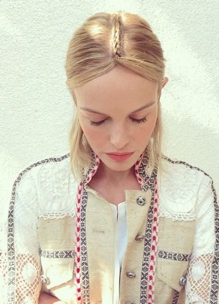 Dudley Hair Style Books For Hair by Kate Bosworth S Braided Centre Parting For Summer