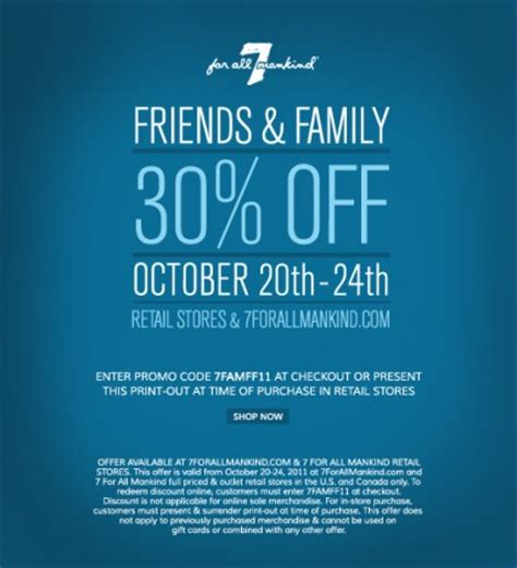 Friends And Family Discount At Prescriptives by 7 For All Mankind Friends Family Discount Fashables