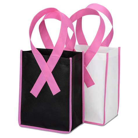 Cherry Berry Gift Card - 4imprint ca awareness ribbon gift tote c131695 imprinted with your logo