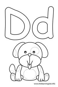 letter d coloring pages letter d coloring page consonant sound coloring