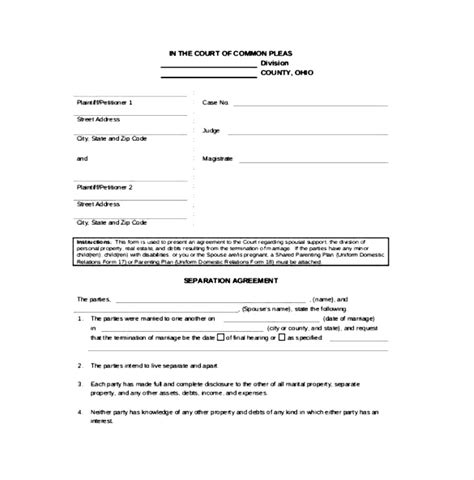 common separation agreement template bc common separation agreement template bc kidscareer info