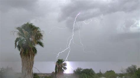 monsoon  july  tucson arizona  monsoon returns  heavy rain  sw tucson youtube