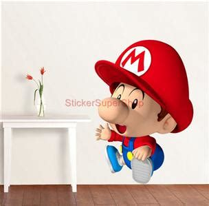 Tokomonster Mario Wall Decal Sticker Size 23 Inch choose size baby mario bros decal removable wall