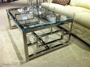 Round Dining Room Coffee Tables Ideas Modern Chrome And Glass Coffee Table