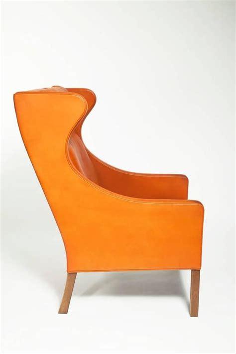 orange leather armchair danish armchair designed by b 248 rge mogensen in orange