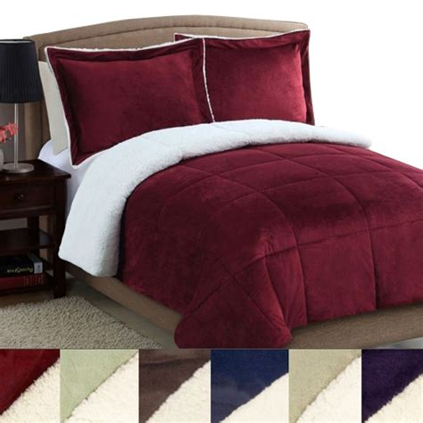 king sherpa comforter refael collection ultra plush sherpa comforter in queen