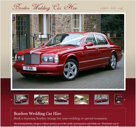 Border Wedding Car Hire borders wedding car hire website design scottish borders
