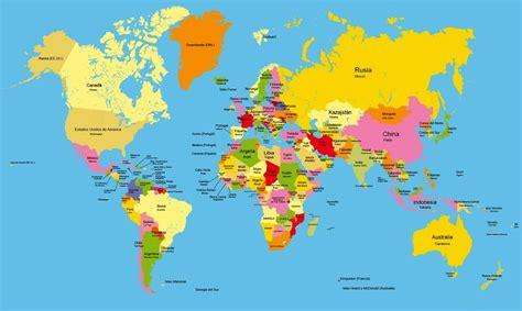 mapamundi fisico politico mapas posters mundo y espa a mapas planisferio pol 237 tico con nombres color school
