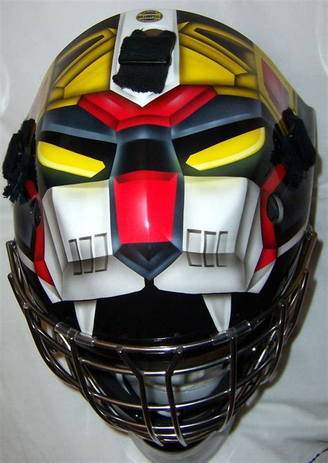 design goalie helmet voltron goalie mask black lion hockey masks only