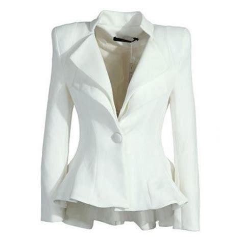 Blazer White White Blazer Emanda Seres