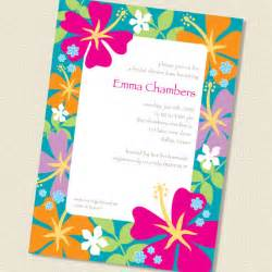 hibiscus border bridal shower or invitation by paperspice