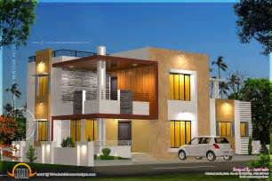 Contemporary House Plans Floor Plan And Elevation Of Modern House Home Kerala Plans