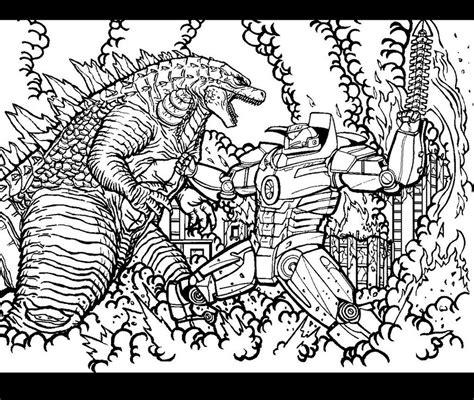 godzilla vs muto coloring pages godzilla vs gypsy danger by godzillafan1954 on deviantart