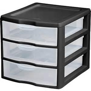 sterilite black set of 6 small 3 drawer organizer