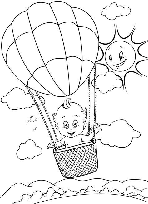 Imagens de balões para imprimir e colorir - Fichas e