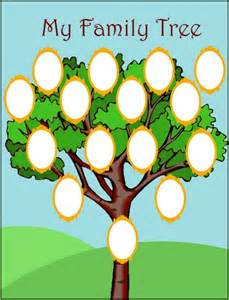 Free Family Tree Printable Template by Printable Family Tree Templates For Pictures Reference