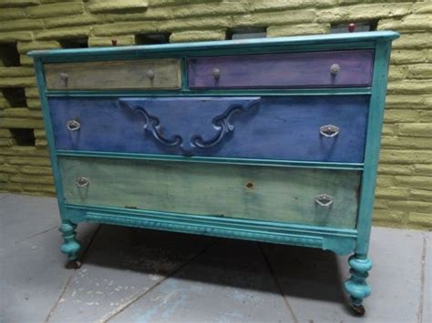 funky painted dresser for the home