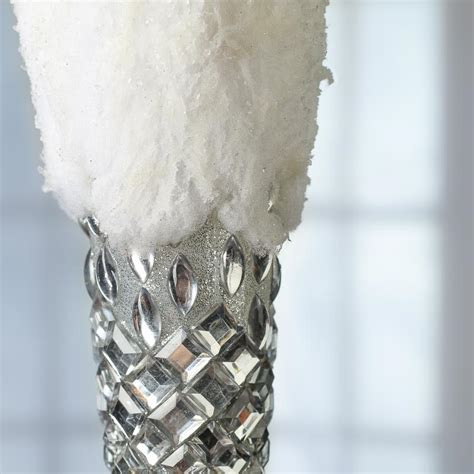 large snowy gem icicle ornament ornaments