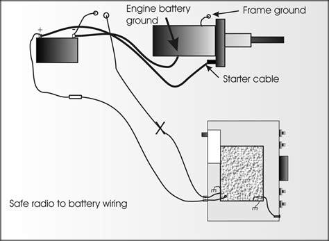 grounding diagram mobile radio wiring and grounding