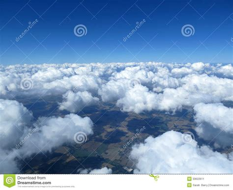 bright as day l aerial cloudscape sky and horizon stock image image