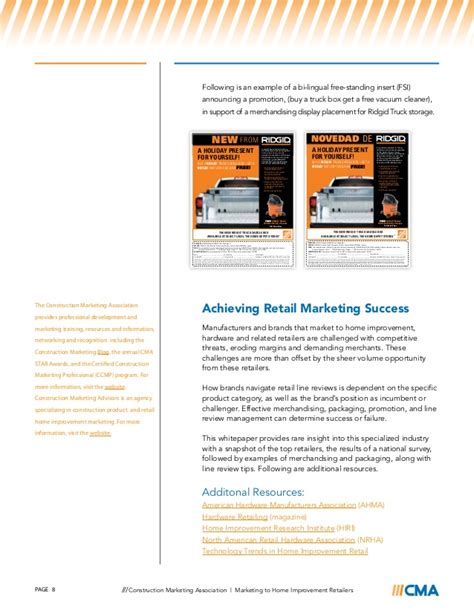 marketing to home improvement retailers