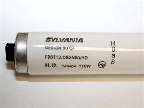 t12 ho l lumen output sylvania 110 watt 96 inch t12 bright white high output