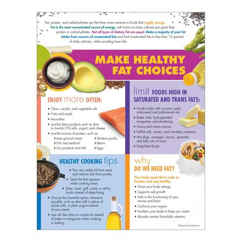 healthy fats handout colorful and informative healthy handouts