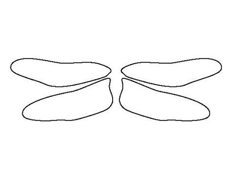 dragonfly template dragonfly wings pattern use the printable outline for
