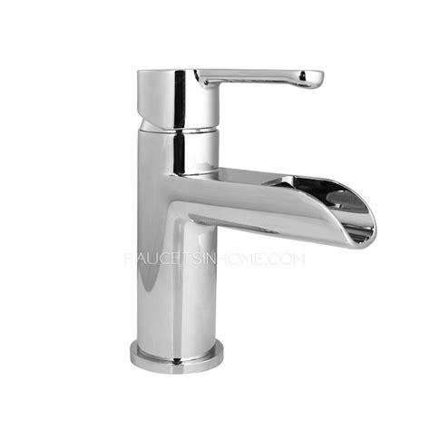Simple Bathroom Faucets Simple One Single Handle Waterfall Bathroom Sink Faucet