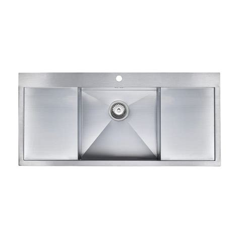 double drainer kitchen sink zenuno deep 1 0 bowl sink with double drainer sinks taps com