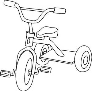 Coloring A Tricycle Is Three Wheeled Bike With Mostly Used By Young  sketch template