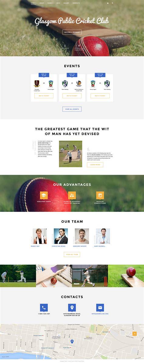 joomla club template cricket club joomla template