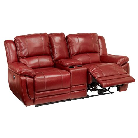 dual reclining sofa with console great american made
