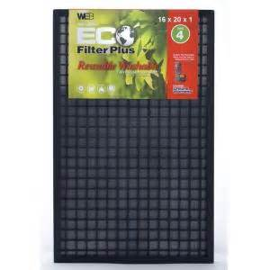 home depot furnace filters web 16 in x 20 in x 1 in eco plus washable fpr 4 air
