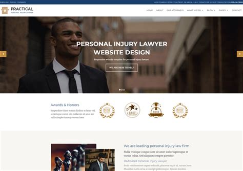 Responsive Templates Archives Ease Template Lawyer Web Templates