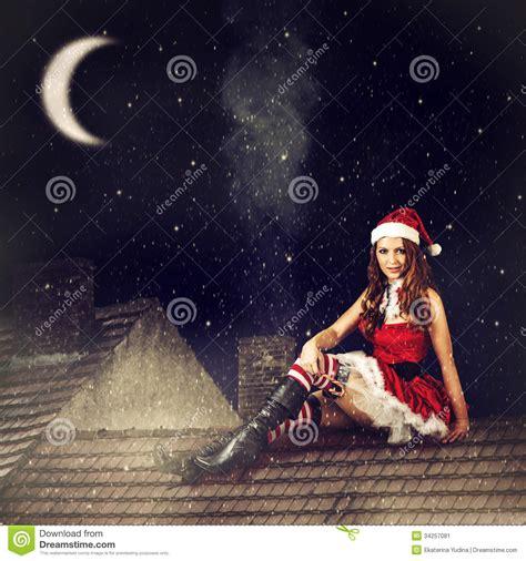 imagenes de navidad hadas mujer de hadas de la navidad en vestido y el sombrero