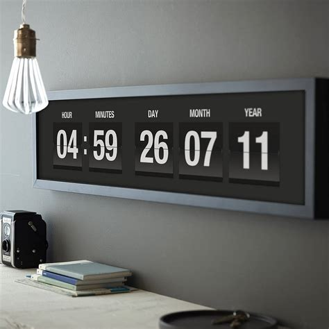 Wall Clock Modern by Personalised Vintage Flip Clock Print By The Drifting Bear