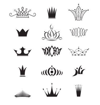 modern crowns vector   firin  vectorstock patten