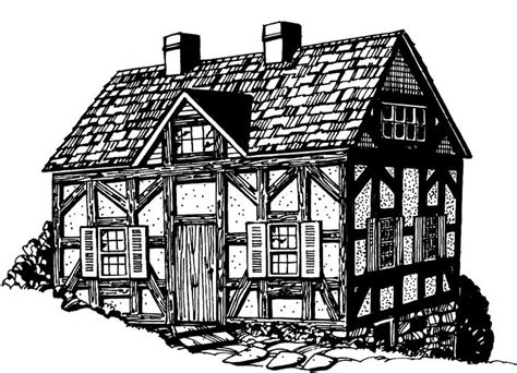 Tudor House by Tudor Clipart