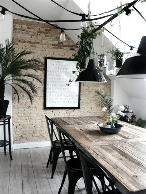 Industrial Interiors Home Decor l am 233 nagement d une salle 224 manger style industriel en 48