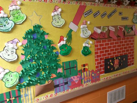 christmas board decoration grinch bulletin board activities bulletin boards